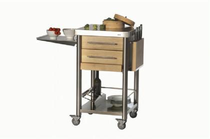 JOKO Küchenwagen mit 2 Schubladen Edelstahl