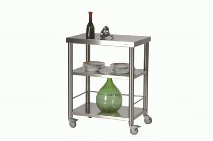 JOKO Küchenwagen mit Ablagen aus Edelstahl - Vorschau 1