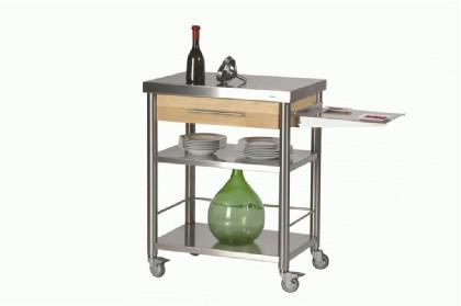 JOKO Küchenwagen mit Schublade Edelstahl