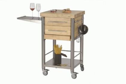 JOKO Küchenwagen 2 Schubladen Platte Weissbuche - Vorschau 1
