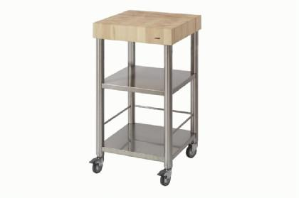JOKO Küchenwagen ohne Schublade Platte Hirnholz