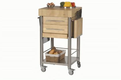 JOKO Küchenwagen 2 Schubladen Platte Hirnholz - Vorschau 1