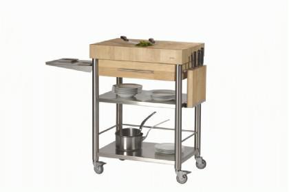 JOKO Küchenwagen 1 Schublade Platte Hirnholz