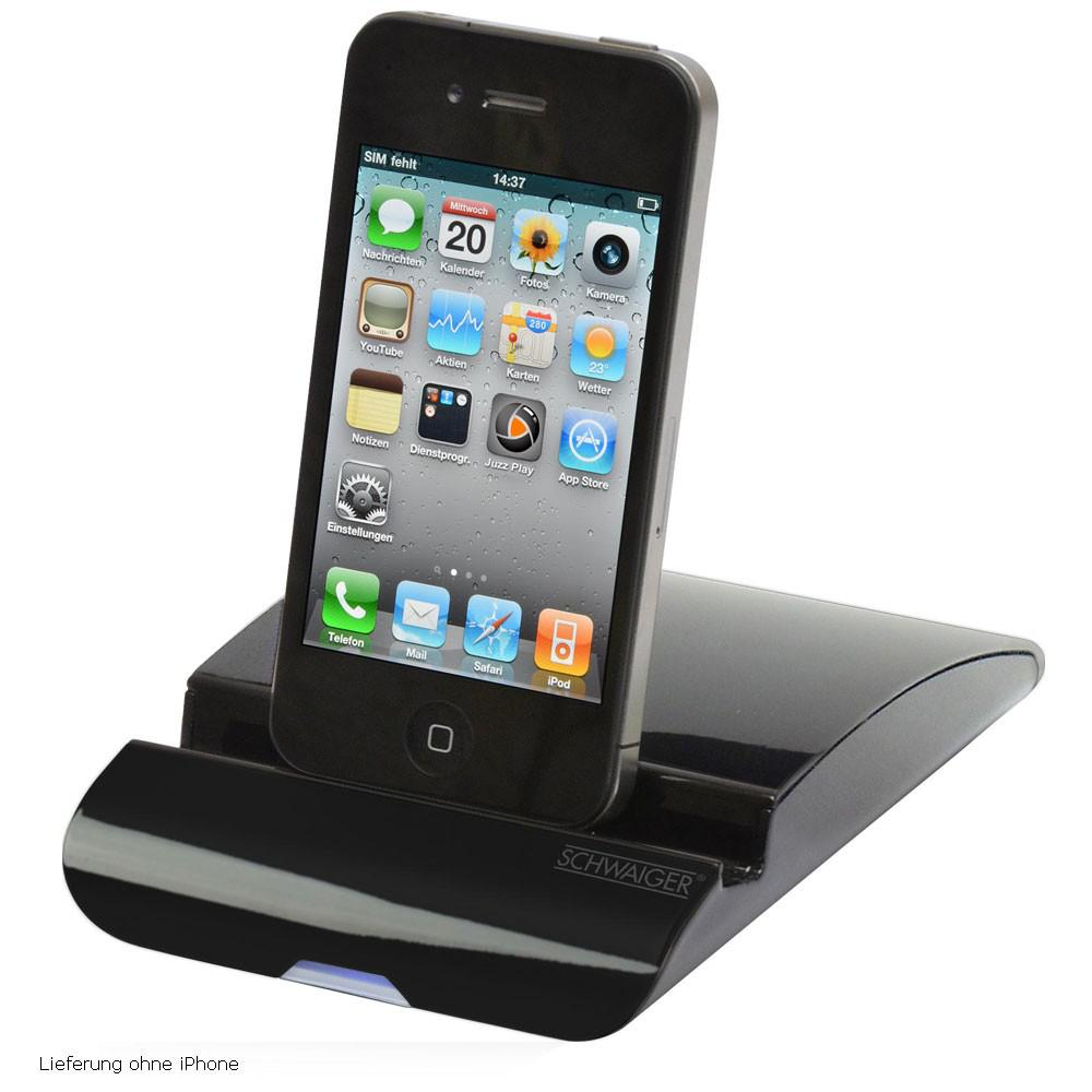 ipod iphone ipad media docking station mini usb schwaiger. Black Bedroom Furniture Sets. Home Design Ideas