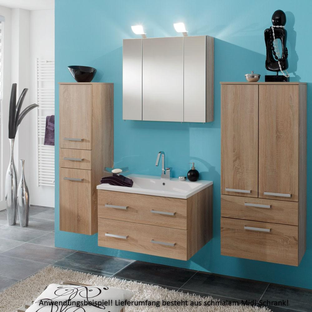 badezimmer wand schrank midischrank bad badezimmerschrank. Black Bedroom Furniture Sets. Home Design Ideas