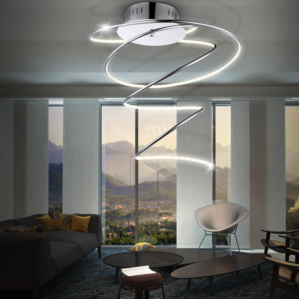 led 19 watt decken leuchte acryl lampe beleuchtung spirale globo rebel 67814d kaufen bei www. Black Bedroom Furniture Sets. Home Design Ideas