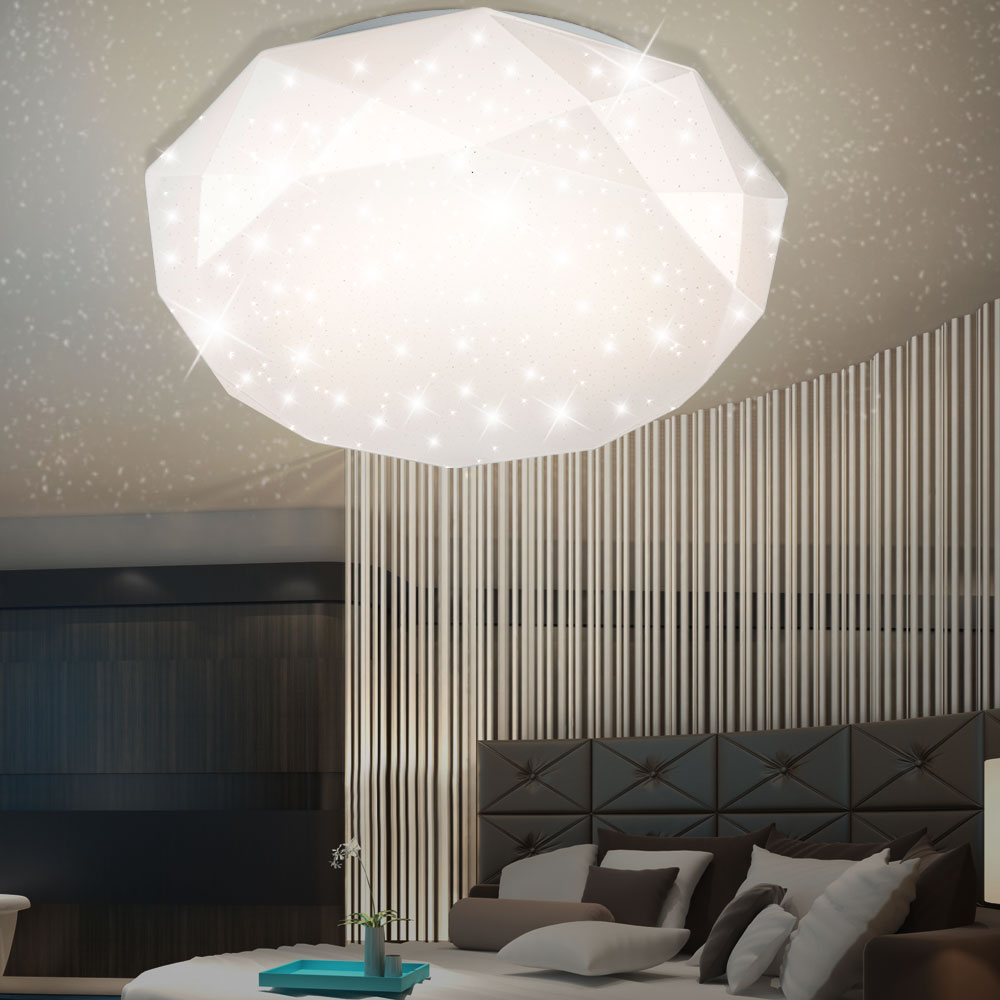 led 12 watt decken leuchte g stezimmer diamant lampe. Black Bedroom Furniture Sets. Home Design Ideas