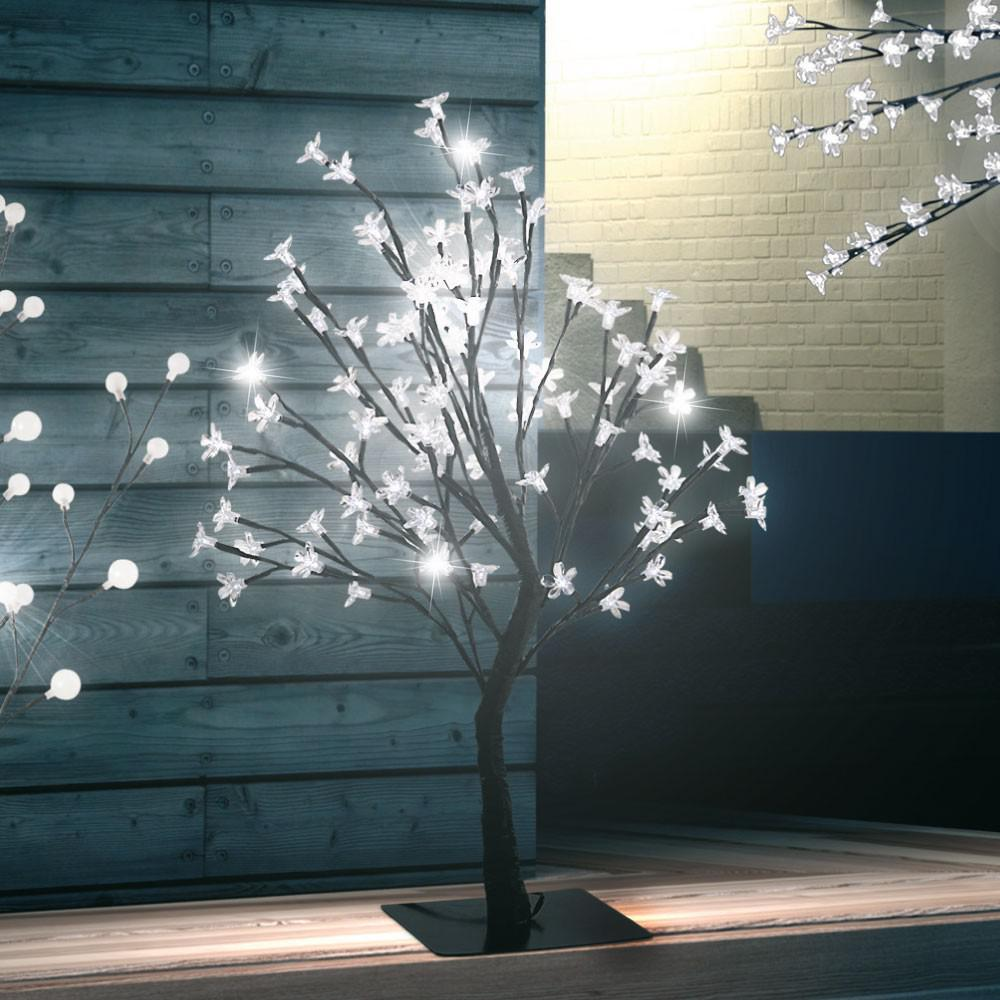 96 led s deko baum bl ten ste beleuchtung au en lampe steh leuchte globo 39103 kaufen bei www. Black Bedroom Furniture Sets. Home Design Ideas