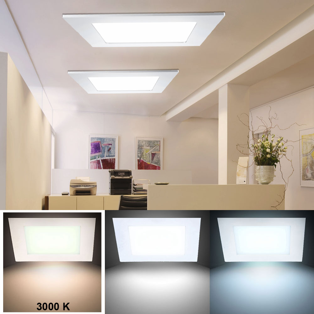 24 watt led panel decken einbau leuchte wohnzimmer raster lampe alu warmwei v tac4887 kaufen. Black Bedroom Furniture Sets. Home Design Ideas