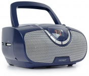 CD-Radio Spieler Player Boombox Ghettoblaster Stereoradio UKW Denver TC-22 blau