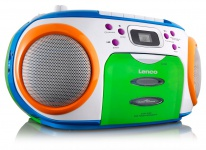 CD MP3 Player FM Radio Stereo Kassetten Spieler Kinder Musik Boombox bunt Lenco SCR-970