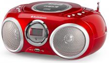 CD-Player Stereoradio MP3-Player LCD-Anzeige USB rot Tristar Audiosonic CD-570
