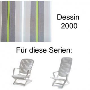 Auflage für Sessel Estanza und Tangor von Allibert Evolutiv im Des. 2000 100% Polyacryl Lichtbeständigkeit 7-8 von 8
