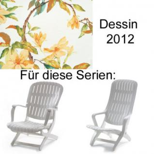 Auflage für Sessel Estanza und Tangor von Allibert Evolutiv im Des. 2012 100% Polyester Lichtbeständigkeit 6-7 von 8