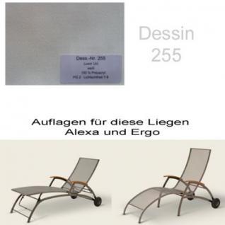 Auflage für Liege Alexa oder Ergo von Royal Garden im Dessin 255 100% Polyacryl, Lichtbeständigkeit 7-8 von 8
