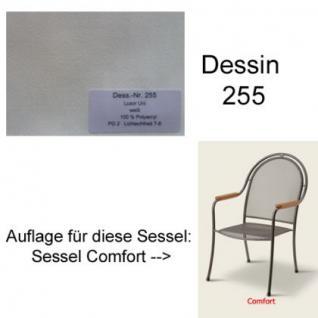 Auflage zu Sessel Comfort Dessin 255 100% Polyacryl Lichtbeständigkeit 7-8 von 8 - Vorschau 1