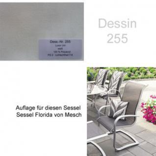 Auflage für Serie Florida und Minerva von Mesch für verschiedene Modelle der Serien zur Auswahl im Dessin 255 100% Polyacryl Lichtbeständigkeit 7-8 von 8