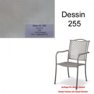 Auflage zu Sessel Voluta Dessin 255 100% Polyacryl Lichtbeständigkeit 7-8 von 8