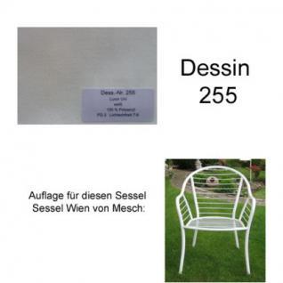 Auflage für Sessel Wien von Mesch im Dessin 255 100% Polyacryl, Lichtbeständigkeit 7-8 von 8