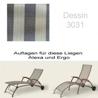 Auflage für Liege Alexa oder Ergo von Royal Garden im Dessin 3031 100% Polyacryl, Lichtbeständigkeit 7-8 von 8