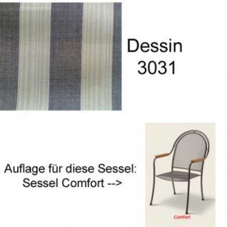 Auflage zu Sessel Comfort Dessin 3031 100% Polyacryl Lichtbeständigkeit 7-8 von 8 - Vorschau 1