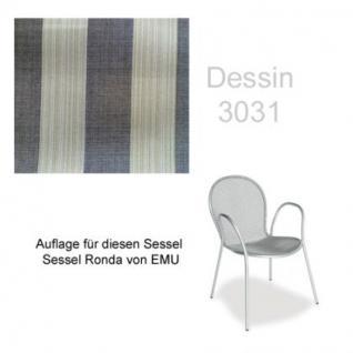 Auflage für Sessel Ronda von Emu im Dessin 3031 100% Polyacryl, Lichtbeständigkeit 7-8 von 8