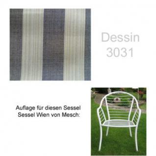 Auflage für Sessel Wien von Mesch im Dessin 3031 100% Polyacryl, Lichtbeständigkeit 7-8 von 8