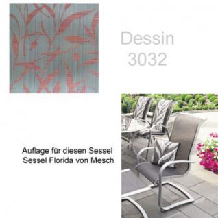 Auflage für Serie Florida und Minerva von Mesch für verschiedene Modelle der Serien zur Auswahl im Dessin 3032 100% Polyacryl, Lichtbeständigkeit 7-8 von 8