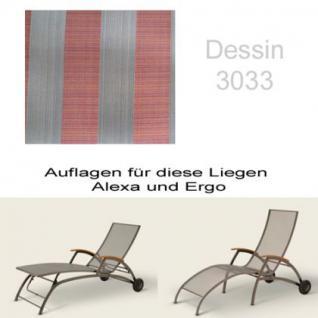 Auflage für Liege Alexa oder Ergo von Royal Garden im Dessin 3033 100% Polyacryl, Lichtbeständigkeit 7-8 von 8
