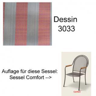 Auflage zu Sessel Comfort Dessin 3033 100% Polyacryl, Lichtbeständigkeit 7-8 von 8