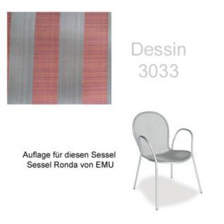 Auflage für Sessel Ronda von Emu im Dessin 3033 100% Polyacryl, Lichtbeständigkeit 7-8 von 8 - Vorschau 1