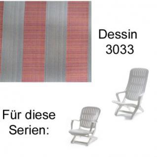 Auflage für Sessel Estanza und Tangor von Allibert Evolutiv im Des. 3033 100% Polyacryl, Lichtbeständigkeit 7-8 von 8