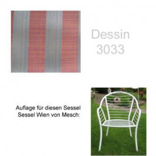 Auflage für Sessel Wien von Mesch im Dessin 3033 100% Polyacryl, Lichtbeständigkeit 7-8 von 8