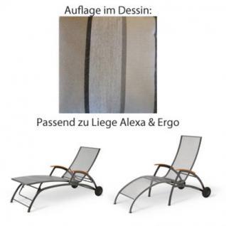 Auflage für Liege Alexa oder Ergo von Royal Garden im Dessin 310 100% Polyacryl, Lichtbeständigkeit 7-8 von 8