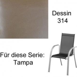 Auflagen zur Serie Tampa von Kettler für verschiedene Modelle aus der Serie im Dessin 314 100% Polyacryl, Lichtbeständigkeit 7-8 von 8