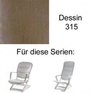 Auflage für Sessel Estanza und Tangor von Allibert Evolutiv im Des. 315 100% Polyacryl, Lichtbeständigkeit 7-8 von 8