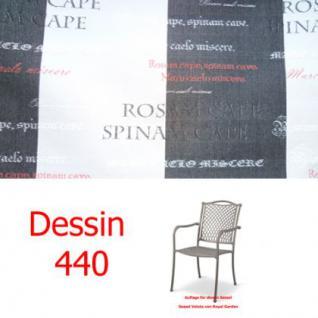 Auflage zu Sessel Voluta Dessin 3440 100% Polyacryl Lichtbeständigkeit 7-8 von 8 - Vorschau 1