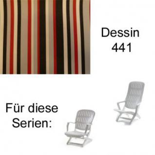 Auflage für Sessel Estanza und Tangor von Allibert Evolutiv im Des.441 100% Polyacryl Lichtbeständigkeit 7-8 von 8