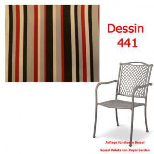 Auflage zu Sessel Voluta Dessin 3441 100% Polyacryl Lichtbeständigkeit 7-8 von 8 - Vorschau 1