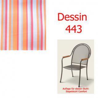 Auflage zu Sessel Comfort Dessin 443 100% Polyacryl, Lichtbeständigkeit 7-8 von 8
