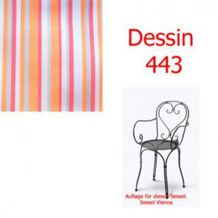 Auflage für Serie Vienna im Dessin 443 100% Polyacryl, Lichtbeständigkeit 7-8 von 8