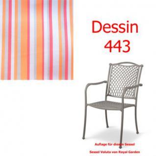 Auflage zu Sessel Voluta Dessin 443 100% Polyacryl Lichtbeständigkeit 7-8 von 8
