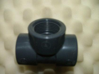 PVC-Druckfittings T-Stück 90°, Klebem.xIGxKlebem.