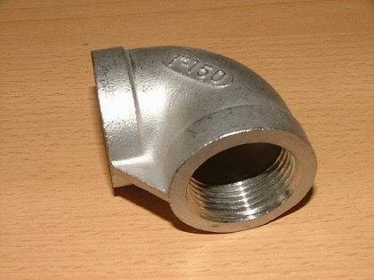 Edelstahl-Fitting, Winkel 90 ° IG