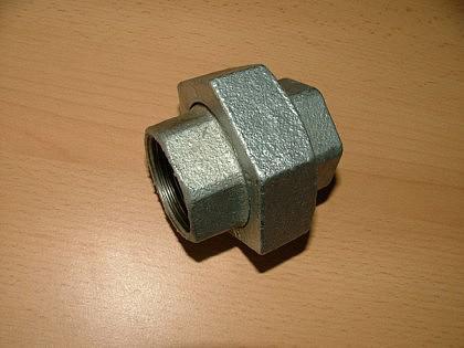 Fitting-Verzinkt, Verschraubung flach-dicht. IG/IG