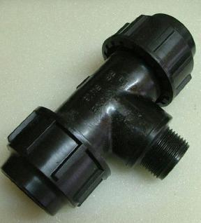 PE-T-Stücke 90° mit IG