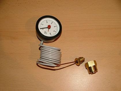Rundes Kapillarmanometer f. Kessel