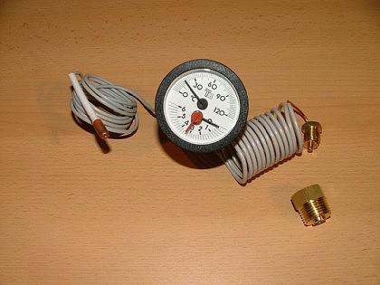 Kapillarer Thermo-Wasserstandsmesser für Kessel