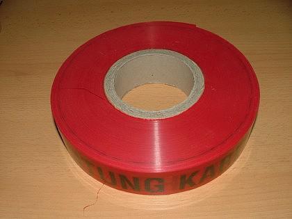 Folienwarnband / Absperrband / Trassen-Warnband - Vorschau 1
