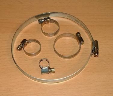 Edelstahlschlauchschelle = 9 mm oder 12 mm - Vorschau 1